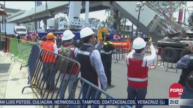 comienzan peritajes tras colapso en linea 12 del metro
