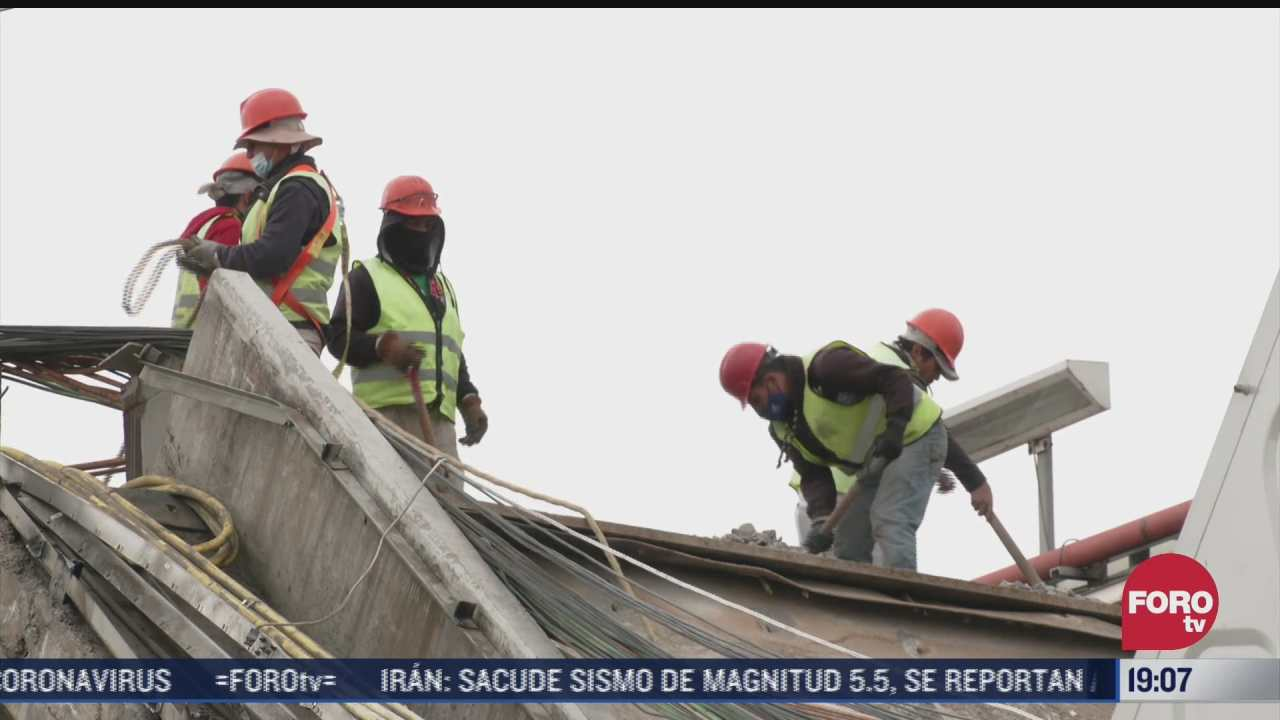 concluyen levantamiento de evidencia donde colapso la linea 12 del metro
