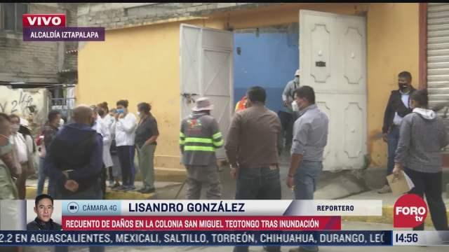 continua recuento de danos tras inundaciones en iztapalapa