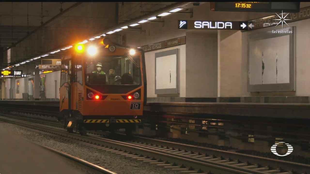 continua revision del tramo subterraneo de la linea 12 del metro cdmx
