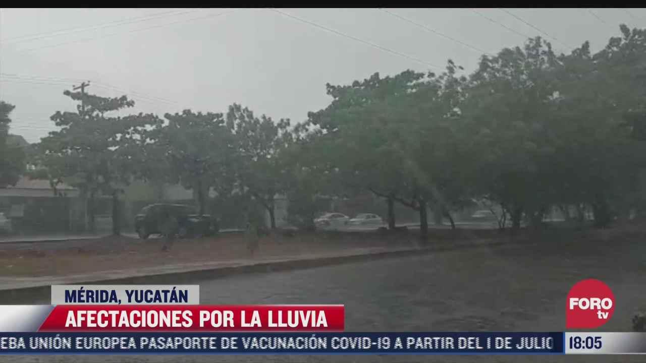 continuan fuertes lluvias en merida yucatan