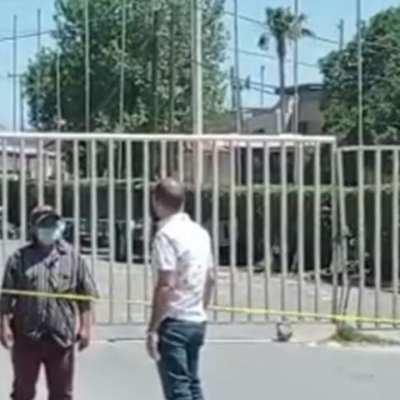 Estacionamiento de la Unión Ganadera de Chihuahua (Noticieros Televisa)