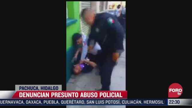 denuncian presunto abuso policial en pachuca hidalgo