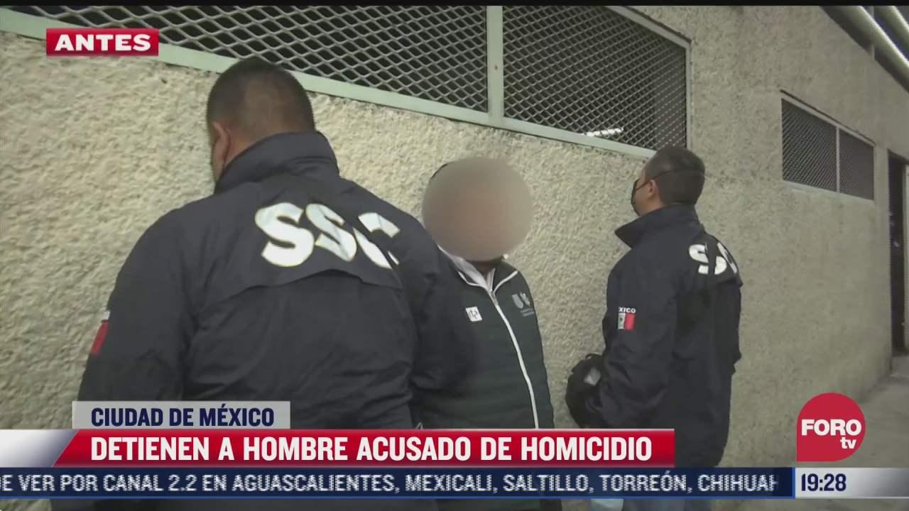 detienen a hombre acusado de homicidio en cdmx