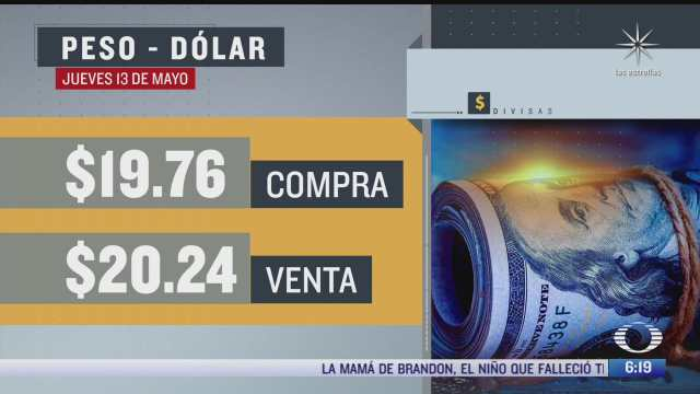 el dolar se vendio en 20 24 en la cdmx del 13 de mayo del