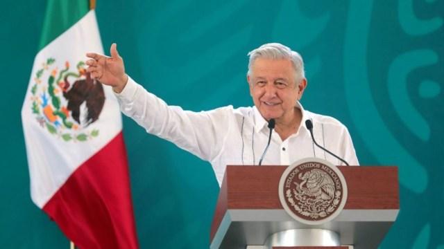 El presidente Andrés Manuel López Obrador durante conferencia matutina