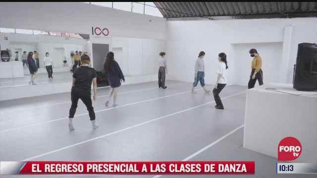 el regreso presencial a las clases de danza