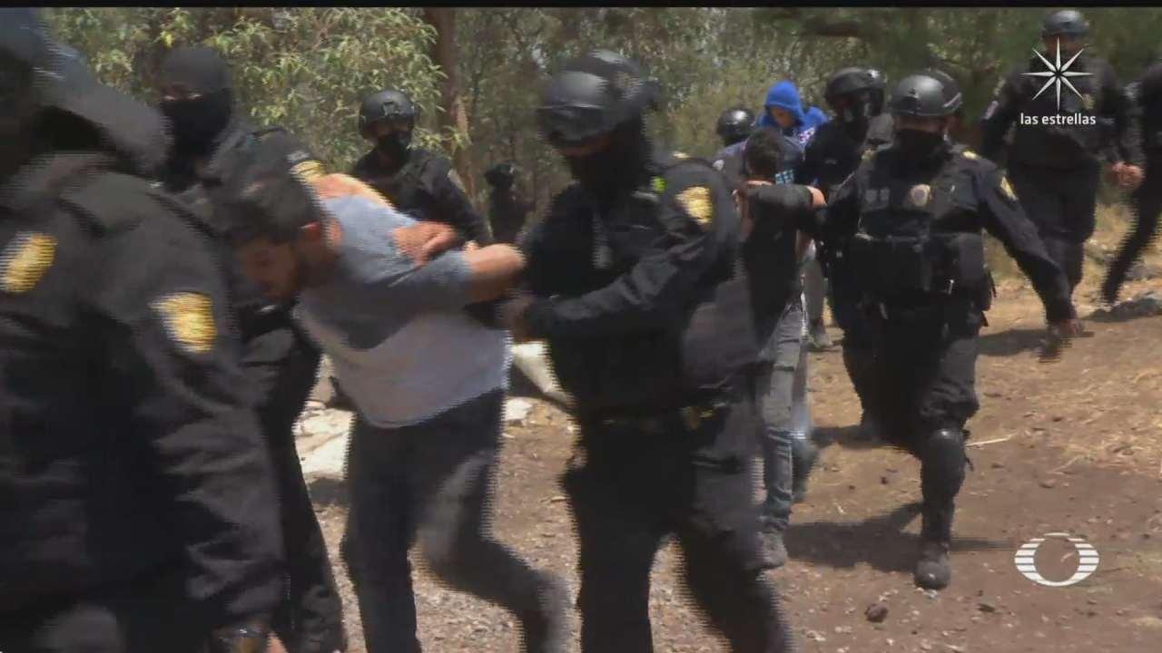 enfrentamiento entre policias e invasores de predio en tlalpan culmina en detenciones