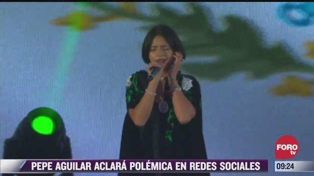 espectaculosenexpreso pepe aguilar aclara polemica sobre himno nacional cantado por su hija
