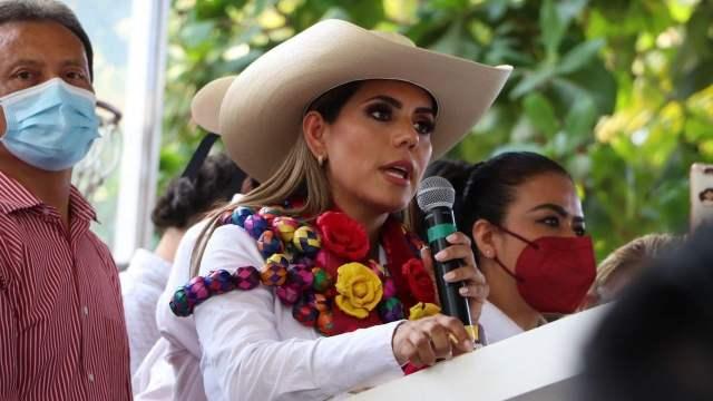 Evelyn Salgado Macedonio arrancó su campaña a la gubernatura de Guerrero por Morena, en Acapulco (Cuartoscuro)
