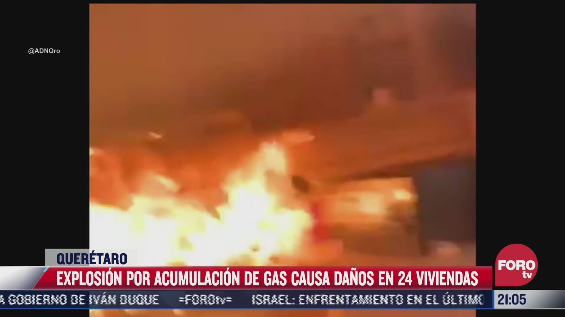Explosión por acumulación de gas causa daños en 24 viviendas en Querétaro