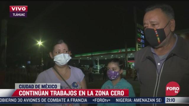 familia ofrece alimentos a trabajadores tras accidente en metro olivos