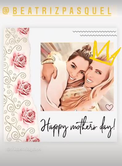 Frida Sofía mensaje de Día de las Madres a Beatriz Pasquel