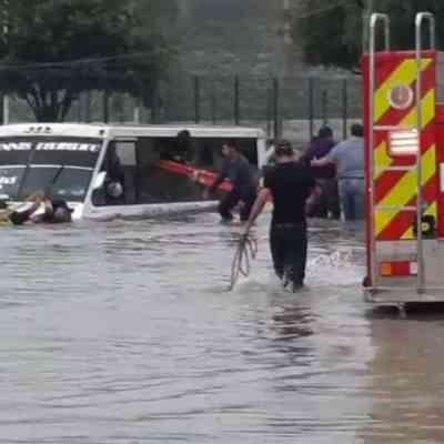 Fuertes lluvias dejan afectaciones en Pachuca, Guadalajara y Reynosa