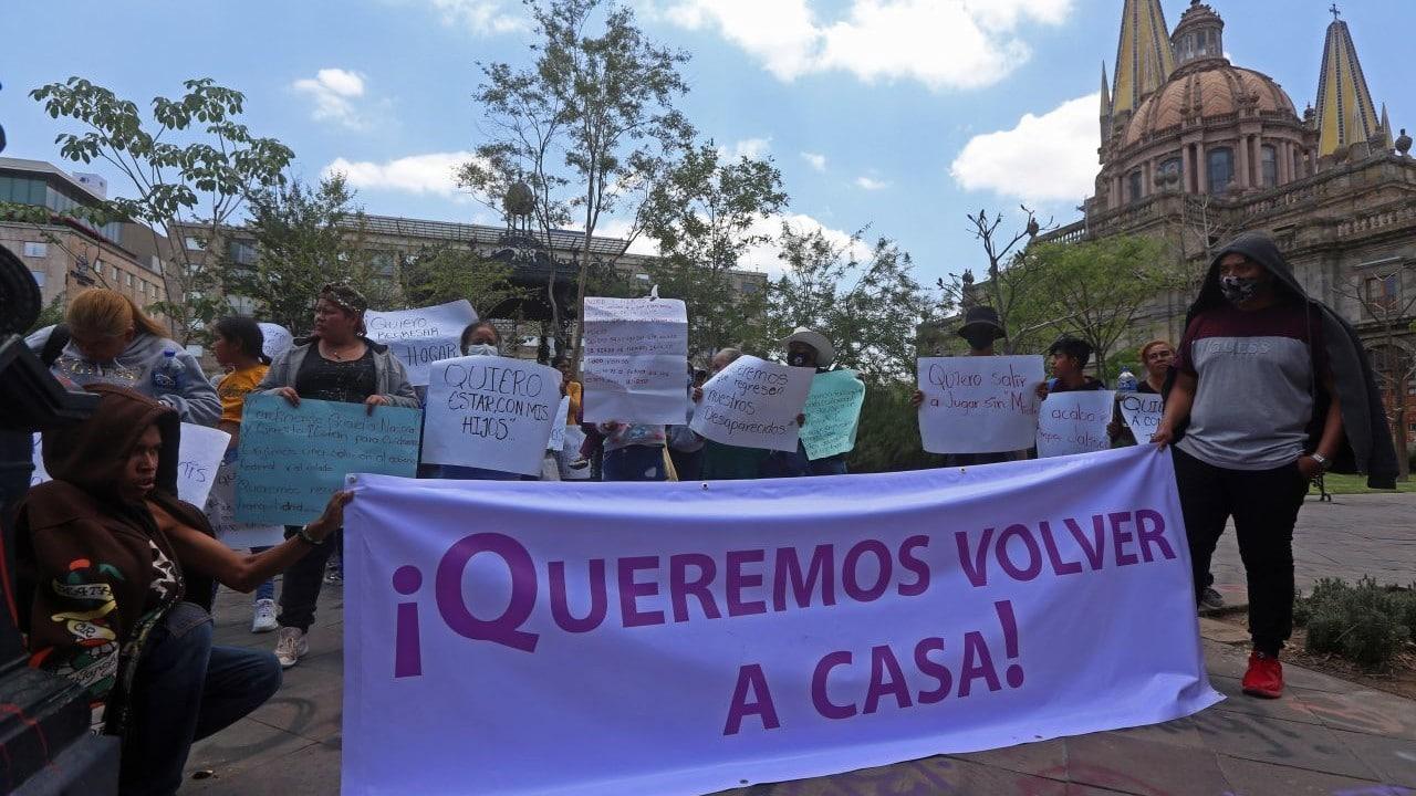 Habitantes de Teocaltiche, Jalisco, protestan contra la ola de violencia por disputa de cárteles