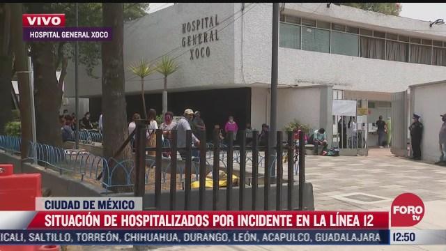 hospitalizados por incidente en l12 del metro no pueden ser operados por falta de insumos