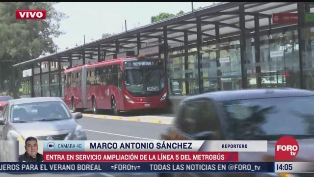 inauguran sietenuevas estaciones de la linea 5 del metrobus