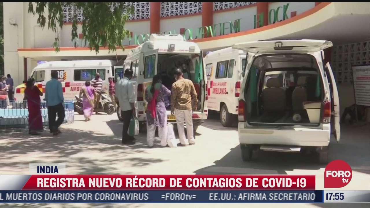 india registra nuevo record de contagios de covid