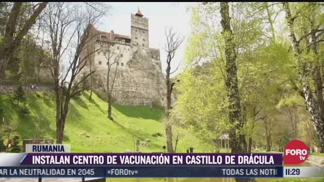 instalan centro de vacunacion covid 19 en castillo de dracula