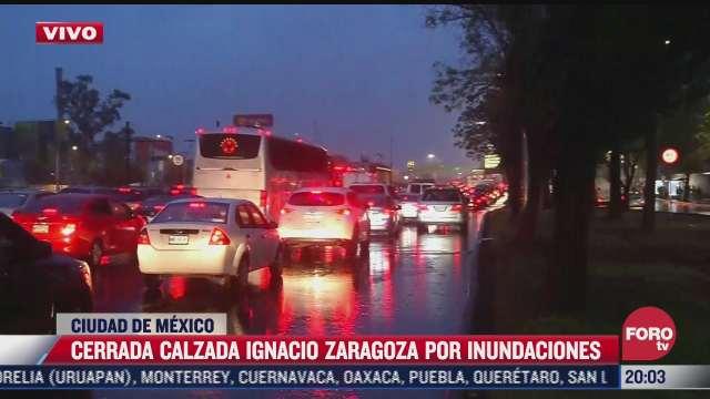 inundacion en calzada zaragoza provoca caos vial