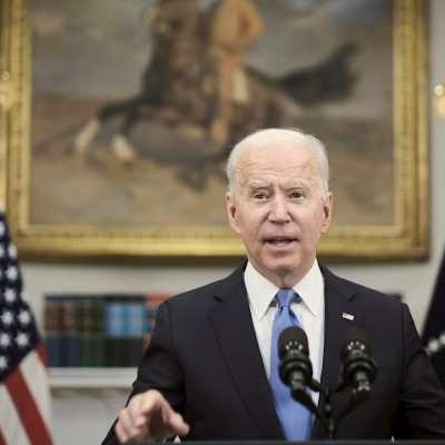 El presidente de Estados Unidos, Joe Biden, en la Sala Roosevelt de la Casa Blanca en Washington