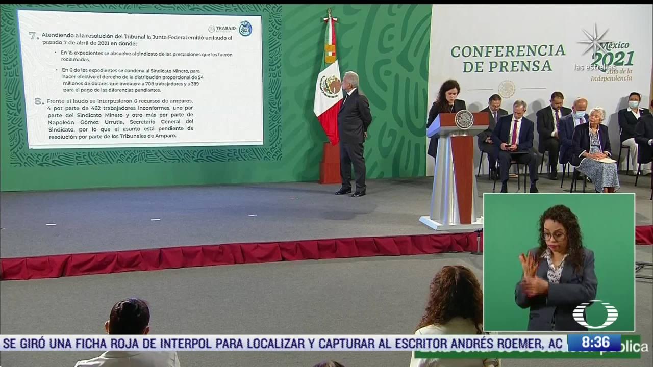 Luisa María Alcalde, secretaria del Trabajo, aclara conflictos mineros