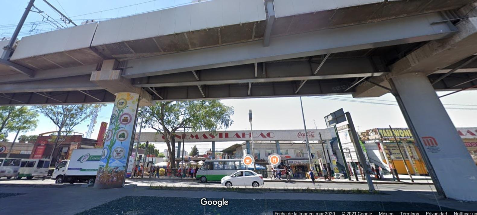 Plaza Tláhuac, Línea 12, Google Maps, Metro Olivos