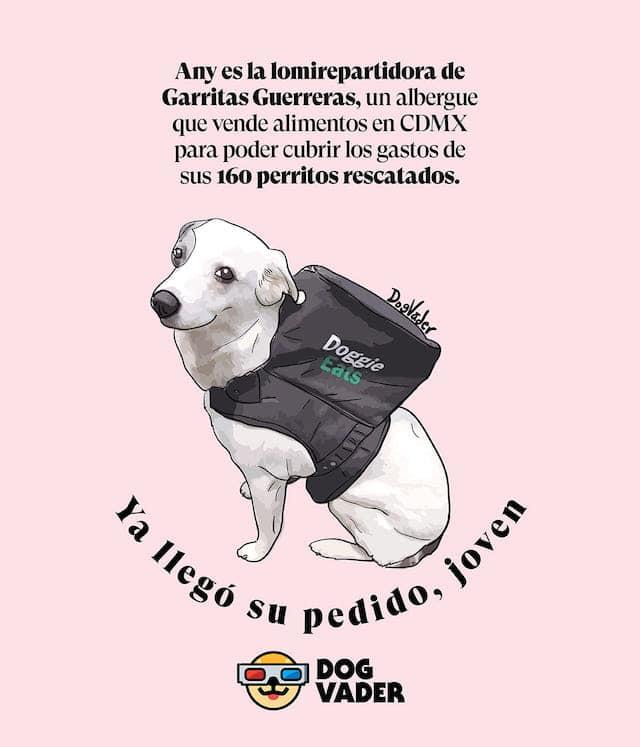Any Perrita Repartidora DogVader Ilustración