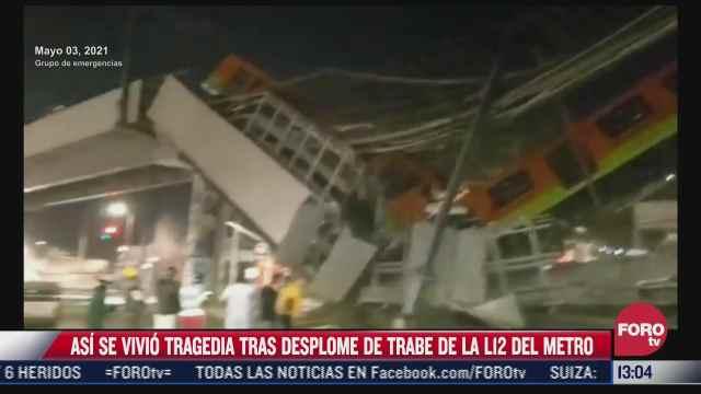 publican desgarrador video de lo que se vivio tras el colapso del metro en l
