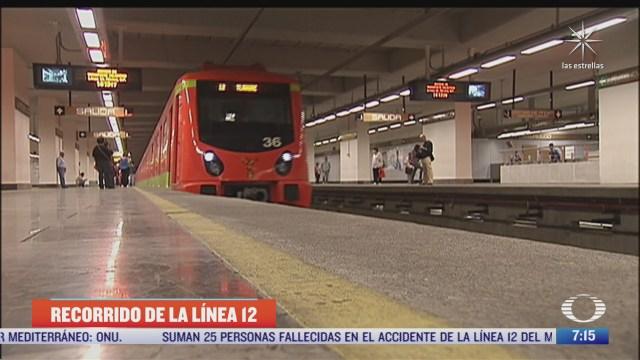 que estaciones recorre la l12 del metro