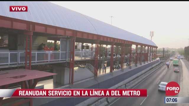 reanudan servicio en la linea a del metro cdmx
