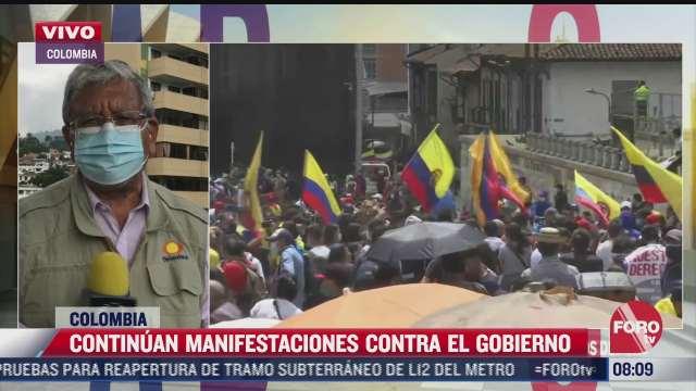 se cumplen dos semanas de protestas en colombia con mas de 40 muertos