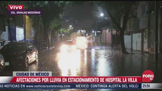 se registra inundacion en inmediaciones del hospital general la villa