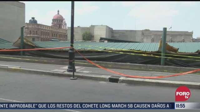 sigue resguardo en templo mayor tras colapso de estructura