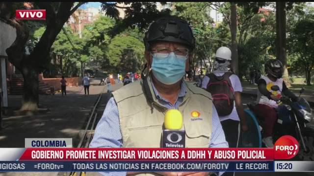 siguen protestas en colombia contra la represion policial