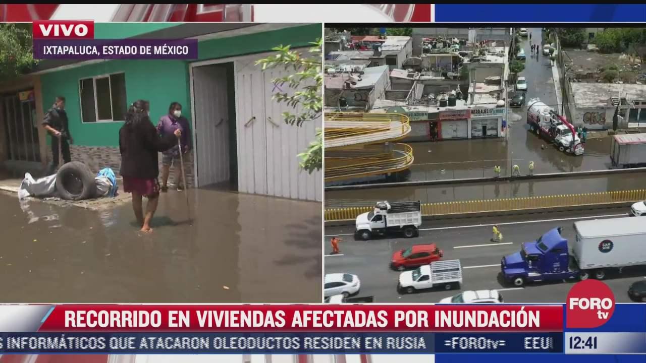 suman 270 casas afectadas por inundaciones en estado de mexico