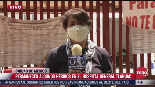 tras accidente del metro buscan sin exito a familiares en hospital general de tlahuac