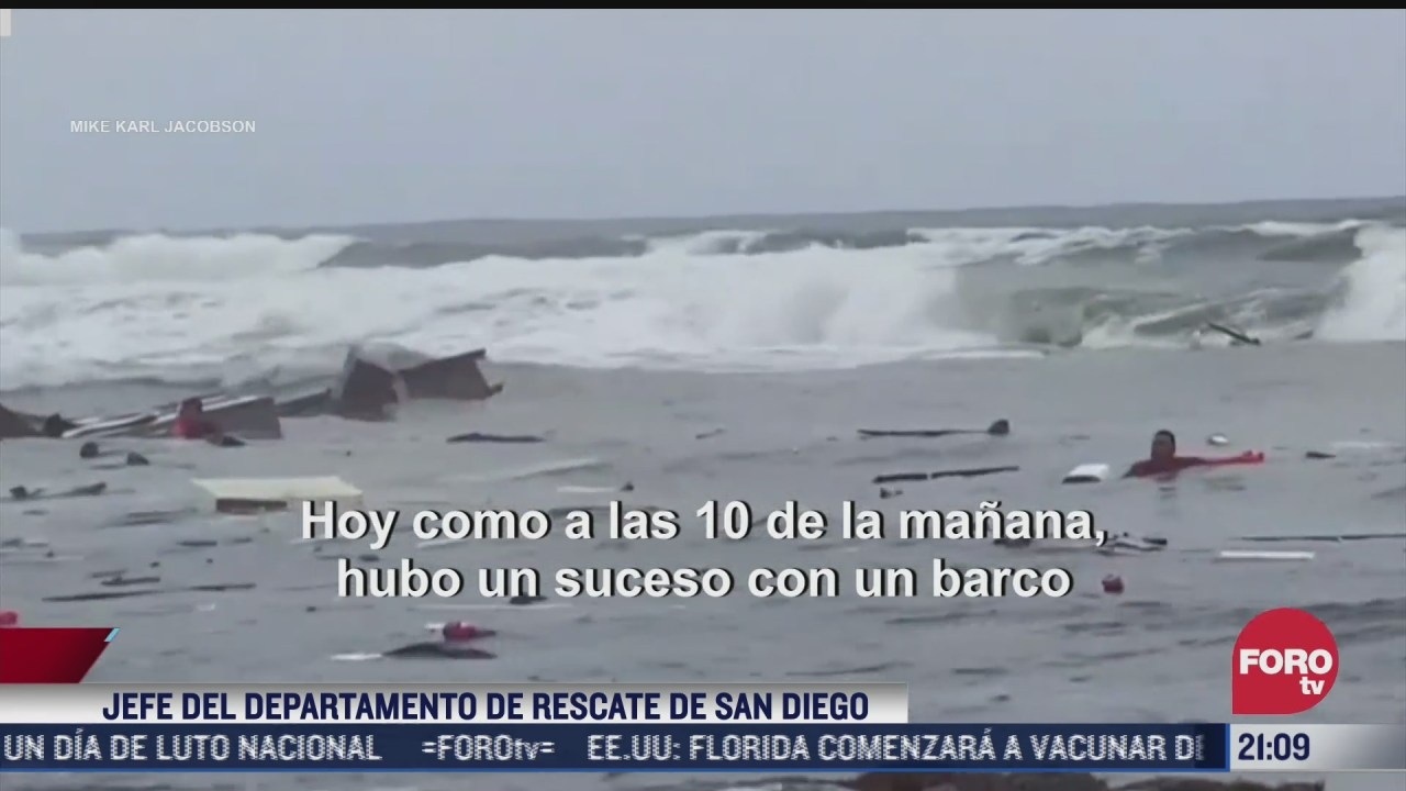 tres muertos y 27 lesionados tras naufragio en san diego california