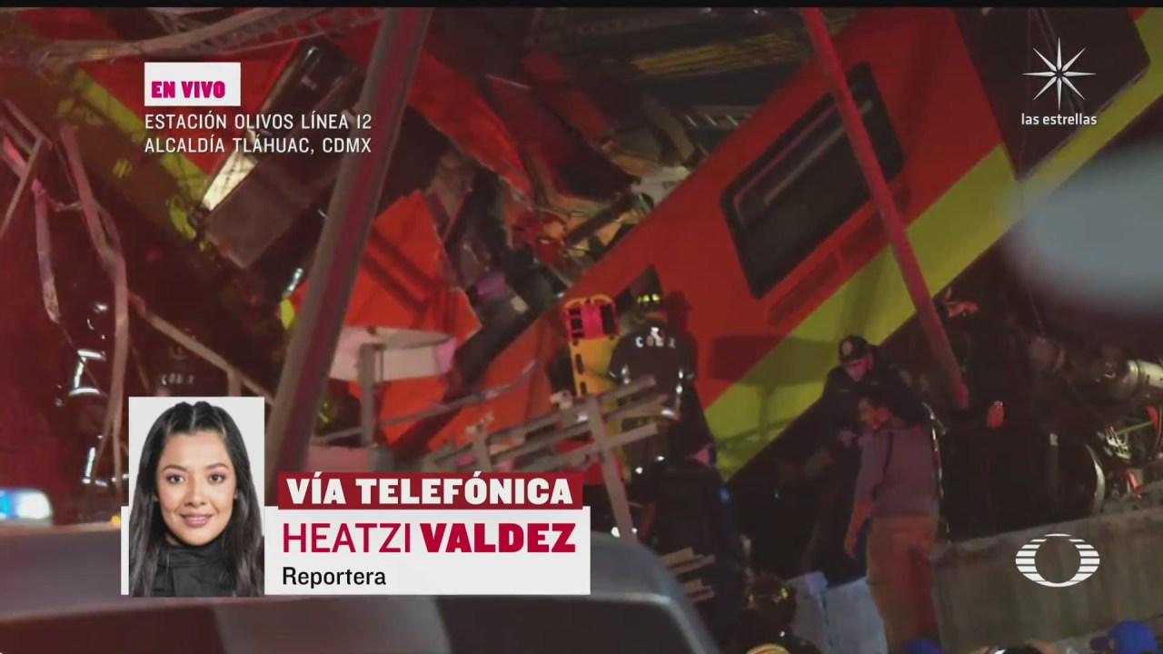unidades de emergencia atienden colapso de ballena en metro olivos cdmx