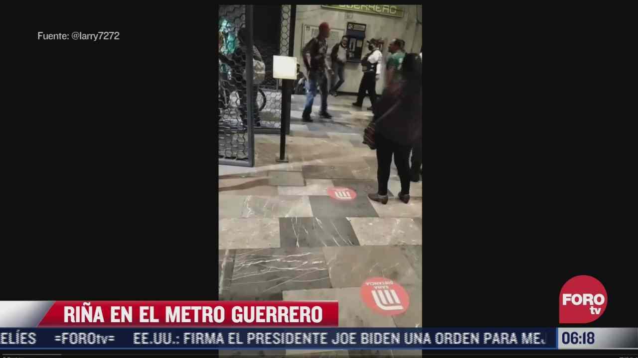 usuario graba rina en la estacion del metro guerrero