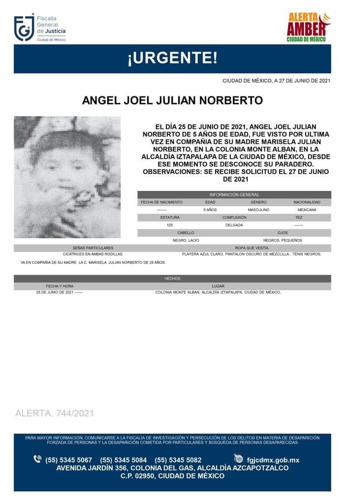 Activan Alerta Amber para localizar a Ángel Joel Julián Norberto