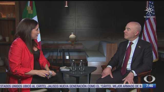 alejandro mayorkas secretario de seguridad de eeuu en entrevista exclusiva para noticieros televisa