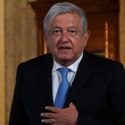 El presidente Andrés Manuel López Obrador durante la conferencia matutina en Palacio Nacional