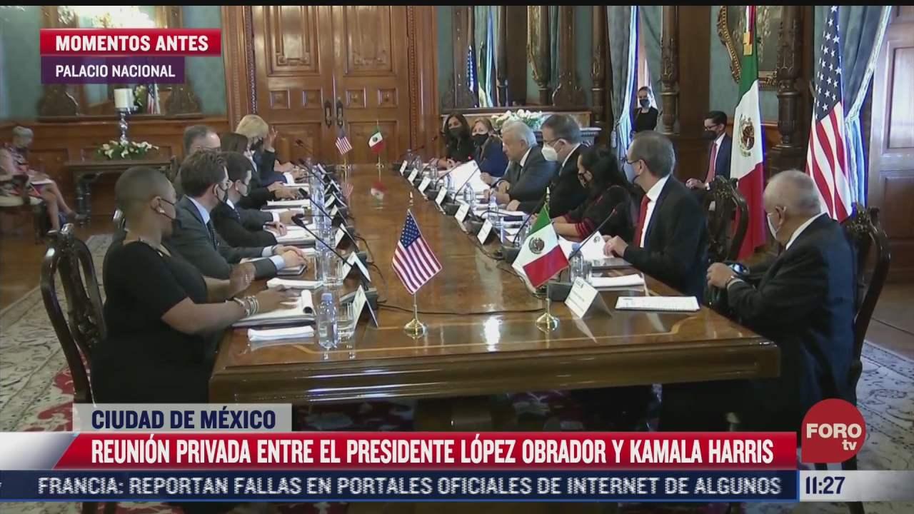 amlo y kamala harris sostienen reunion privada sin cubrebocas