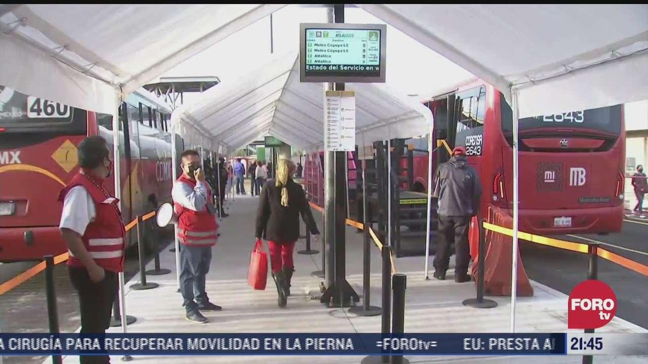 asi inicio operaciones ruta emergente del metrobus que va de tlahuac a metro coyuya