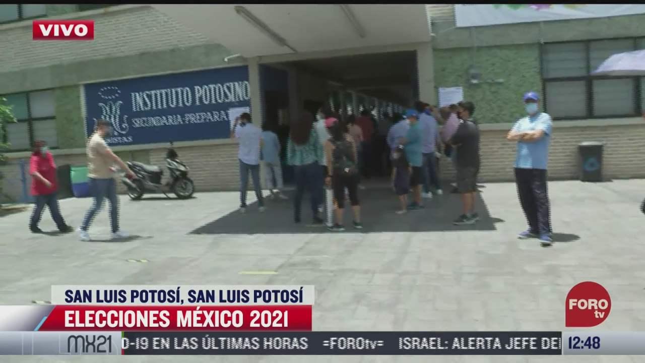 asi lucen las largas filas para votar en elecciones 2021 en san luis potosi