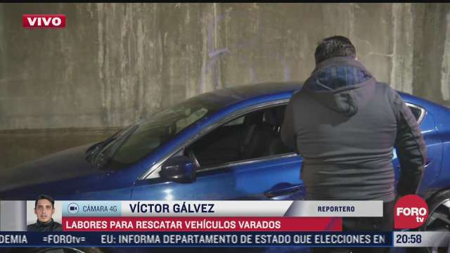 automovilista afectado por lluvias en relata como quedo atrapado su vehiculo