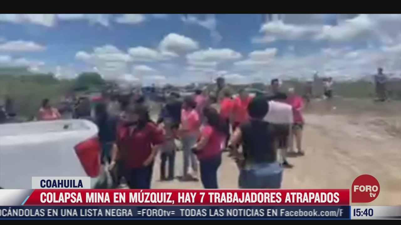 autoridades realizan labores de rescate de mineros atrapados en muzquiz coahuila