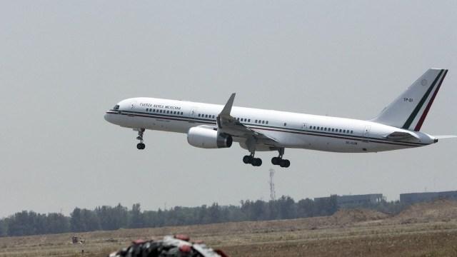 "Avión Presidencial, un Boeing 757 con matrícula TP-01, llamado ""Presidente Juarez"" (Cuartoscuro)"