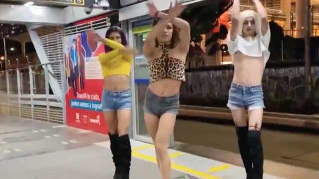 Bailarinas transgénero, ícono de las manifestaciones en Colombia